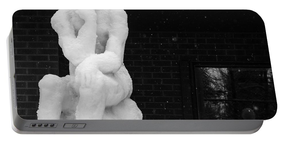 Mccall Portable Battery Charger featuring the photograph The Thinker by Angus Hooper Iii