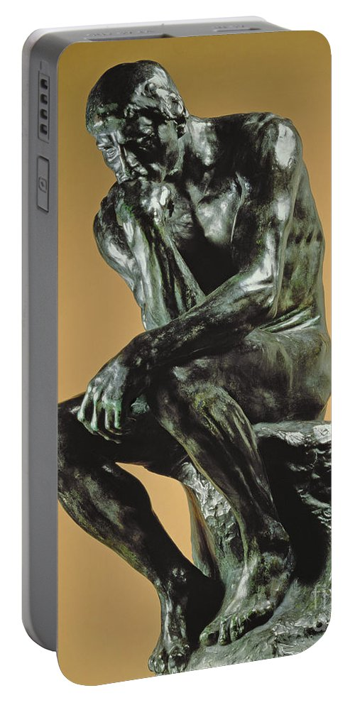 The Thinker Portable Battery Charger featuring the photograph The Thinker by Auguste Rodin