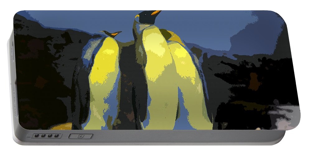 Art Portable Battery Charger featuring the painting The Three Emperors by David Lee Thompson