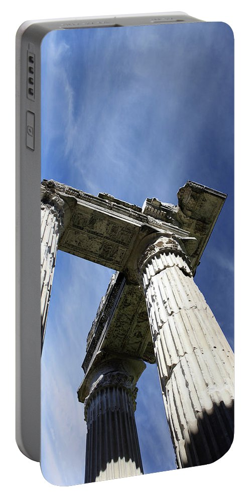 Pillar Portable Battery Charger featuring the photograph The Three Pillars by Munir Alawi
