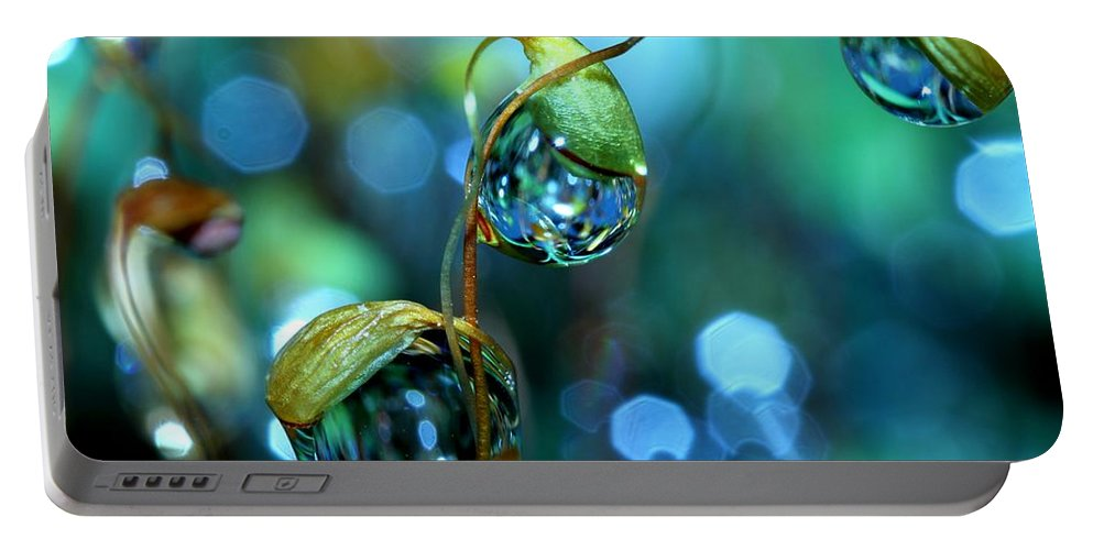 Moss Portable Battery Charger featuring the photograph The Threesome by Sharon Johnstone