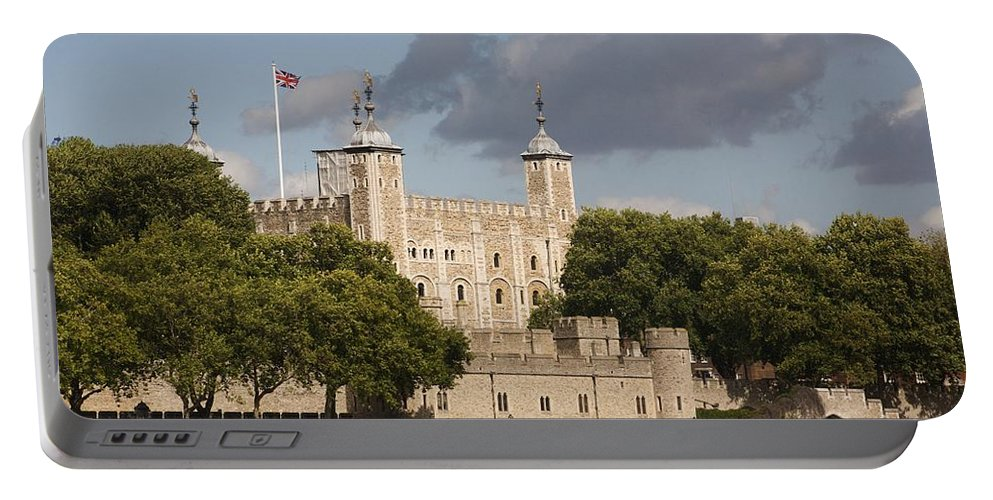 Towers Portable Battery Charger featuring the photograph The Tower Of London. by Christopher Rowlands