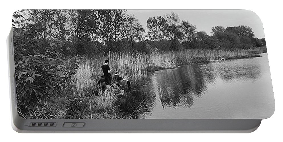 Water Portable Battery Charger featuring the photograph Moving the Water by Frank J Casella