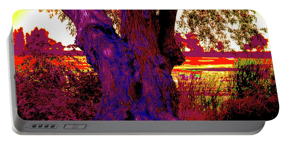 Trees Portable Battery Charger featuring the digital art The Tree by David Stasiak