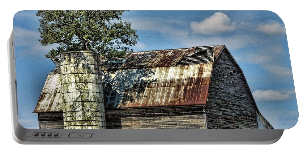 Farms Portable Battery Charger featuring the photograph The Tree Silo by Kristie Bonnewell