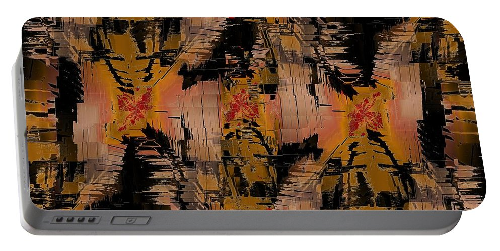 Turmoil Portable Battery Charger featuring the digital art The Turmoil Within by Tim Allen