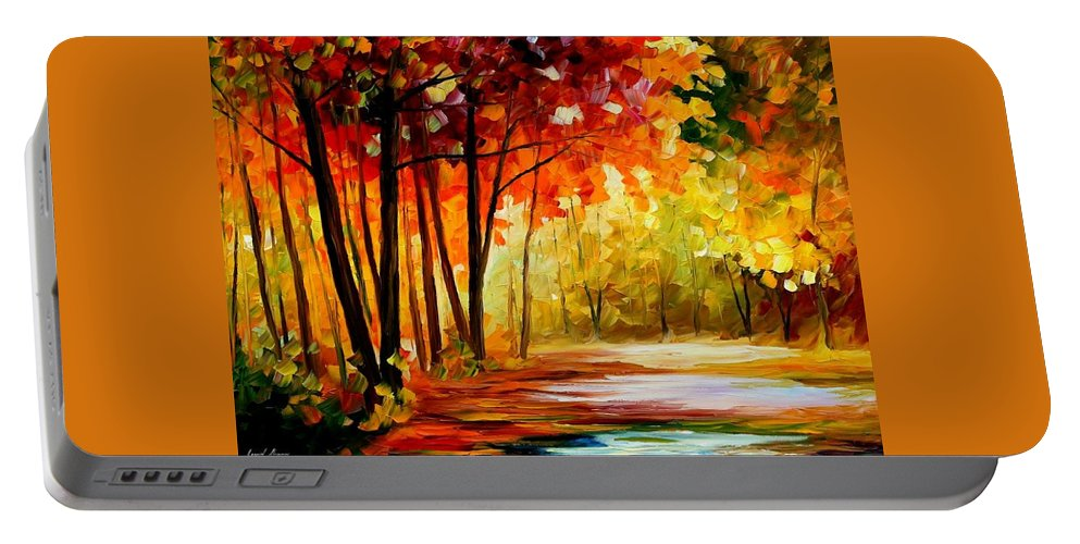 Afremov Portable Battery Charger featuring the painting The Turn Of Fortune by Leonid Afremov