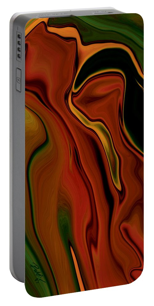 Abstract Portable Battery Charger featuring the digital art The Two by Rabi Khan