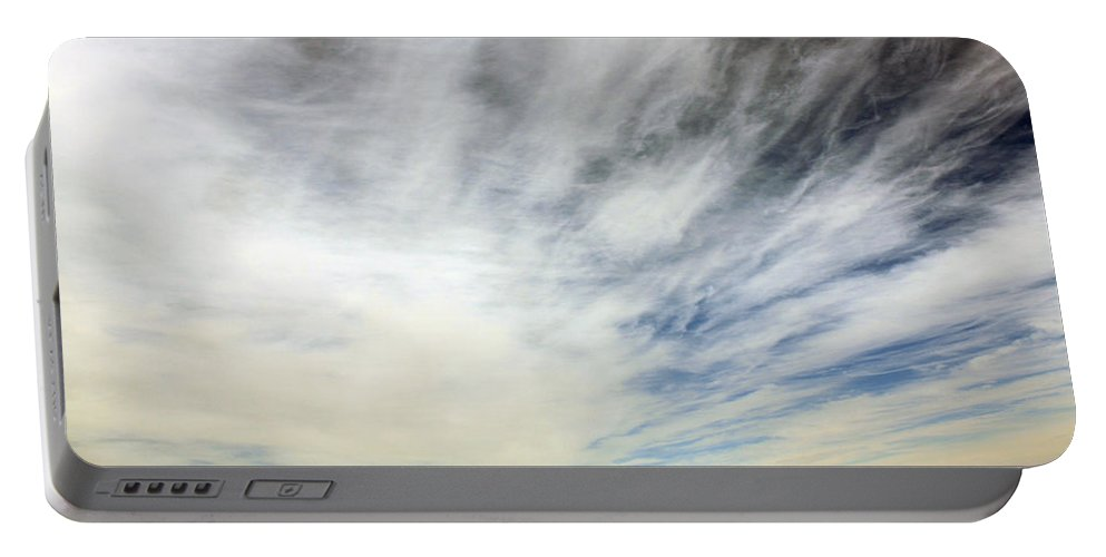 Sky Portable Battery Charger featuring the photograph The Unknown by Munir Alawi
