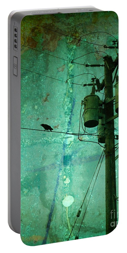 Urban Portable Battery Charger featuring the photograph The Urban Crow by Tara Turner
