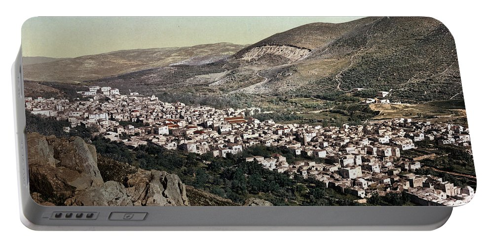 Portable Battery Charger featuring the photograph The Vale Of Nablus by Munir Alawi
