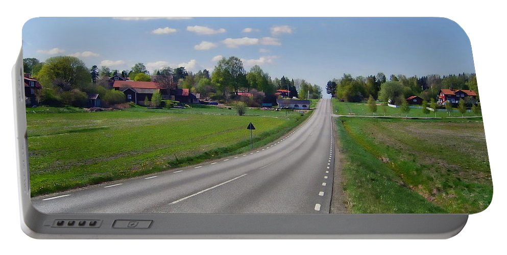Street Portable Battery Charger featuring the photograph The Village Of Stjarna by Anthony Dezenzio