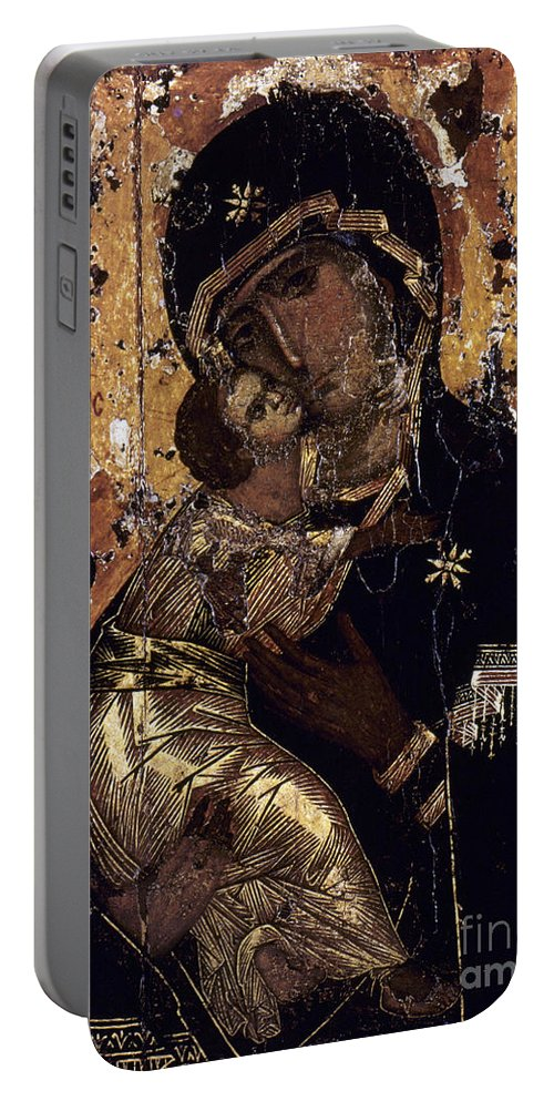12th Century Portable Battery Charger featuring the photograph The Virgin Of Vladimir by Granger