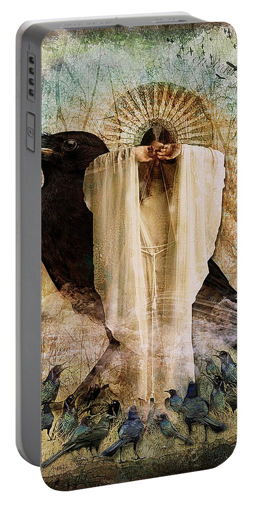 Woman Portable Battery Charger featuring the digital art The Visionary by Patricia Mariano