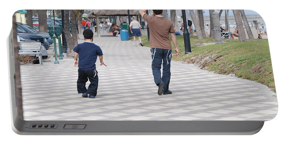 Man Portable Battery Charger featuring the photograph The Walk by Rob Hans