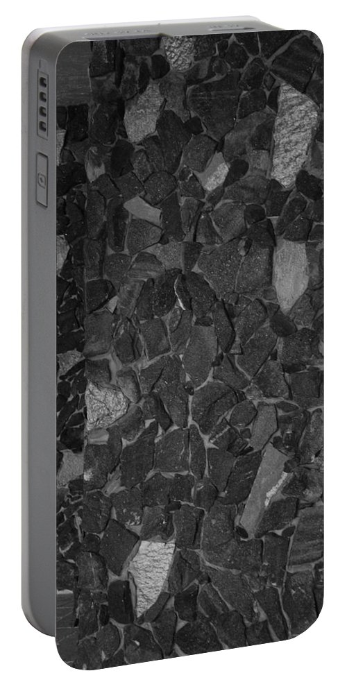Black And White Portable Battery Charger featuring the photograph The Wall by Rob Hans