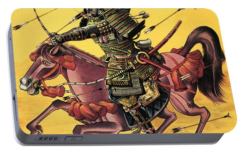 Firing Portable Battery Charger featuring the painting The War Lords Of Japan by Dan Escott