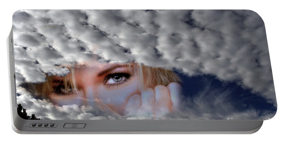 Clay Portable Battery Charger featuring the photograph The Watcher Above by Clayton Bruster