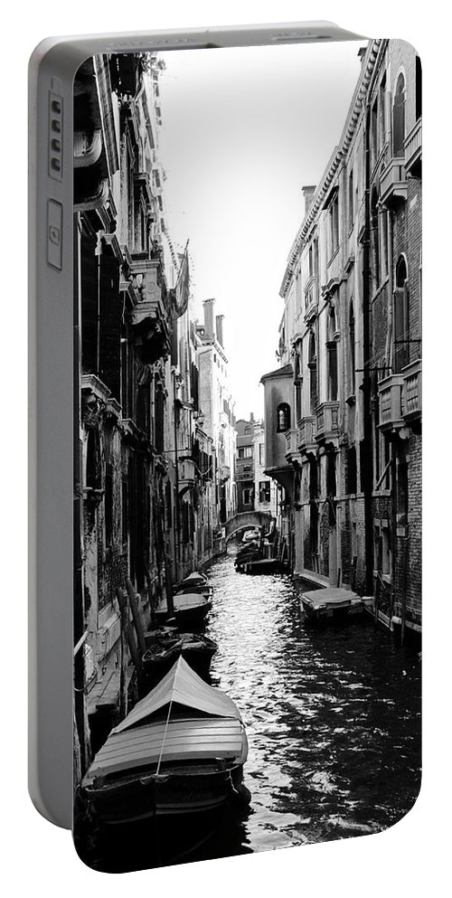 Venice Streets Portable Battery Charger featuring the photograph The Waterways Of Venice by Shelly John