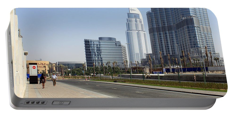 Street Portable Battery Charger featuring the photograph The Way To Dubai by Munir Alawi