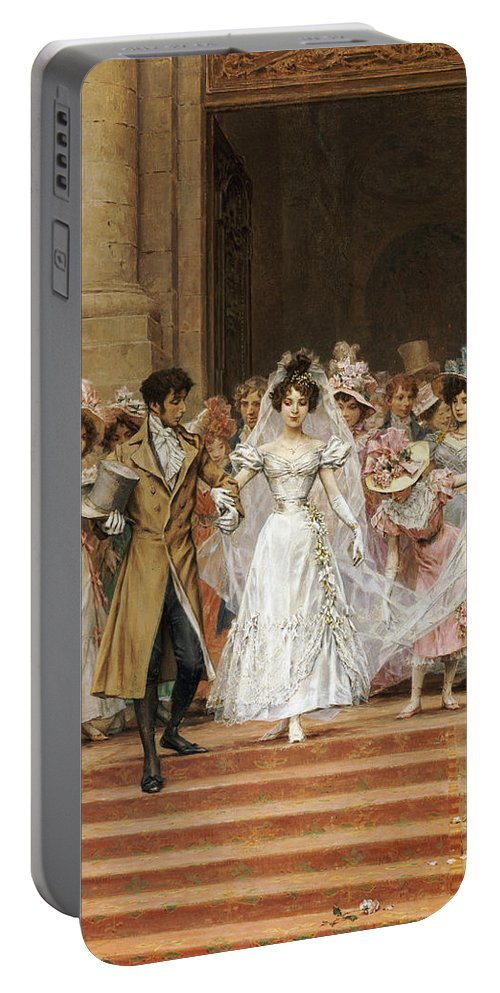 The Wedding Portable Battery Charger featuring the painting The Wedding by Frederik Hendrik Kaemmerer