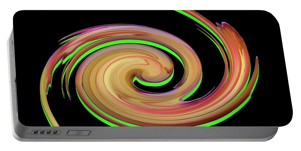 Whirl Portable Battery Charger featuring the digital art The Whirl Of Life, W13.1b by Ayman Alenany
