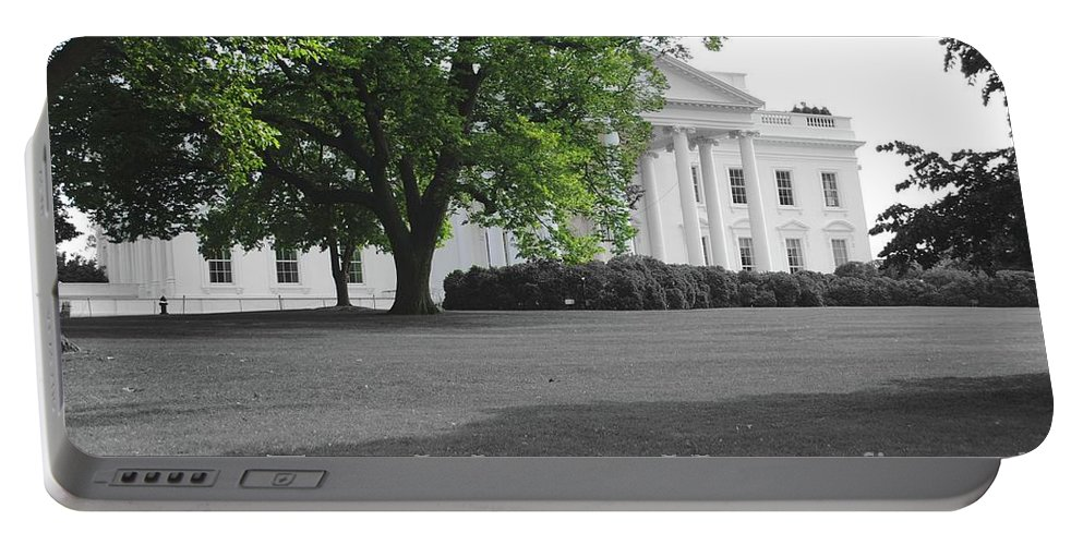 White House Portable Battery Charger featuring the photograph The White House by Jost Houk