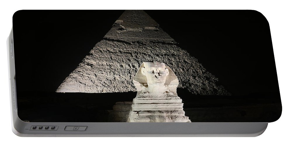 Sphynx Portable Battery Charger featuring the photograph The White Sphynx by Donna Corless