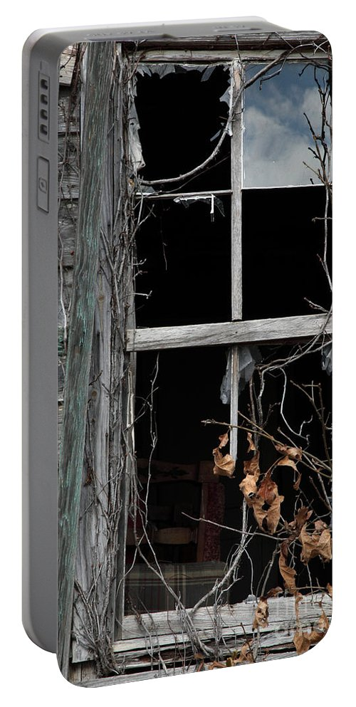 Windows Portable Battery Charger featuring the photograph The Window by Amanda Barcon