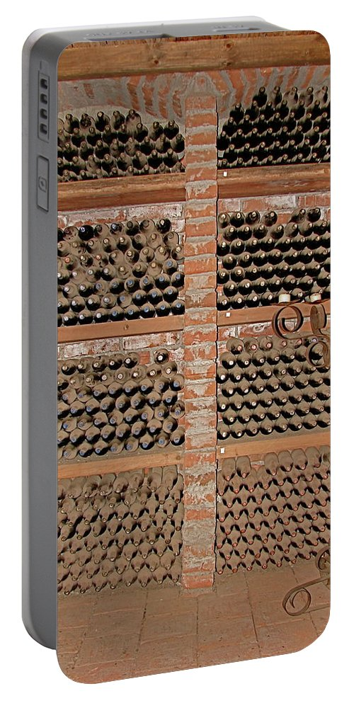 Colchagua Portable Battery Charger featuring the photograph The Wine Cellar by Brett Winn