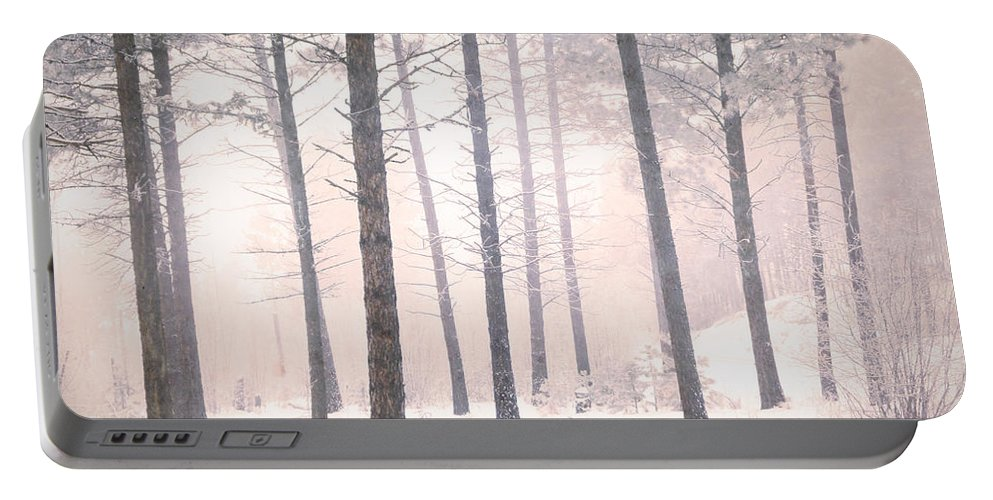 Trees Portable Battery Charger featuring the photograph The Winter Forest by Tara Turner