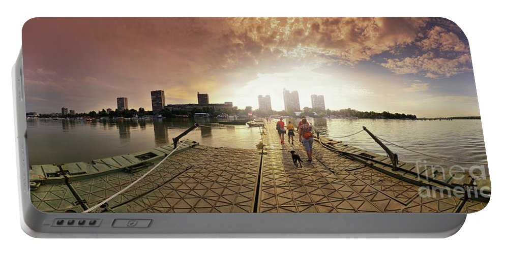 Cityscape Portable Battery Charger featuring the photograph The Wizard Of Munzek On Za by Panorama Guru