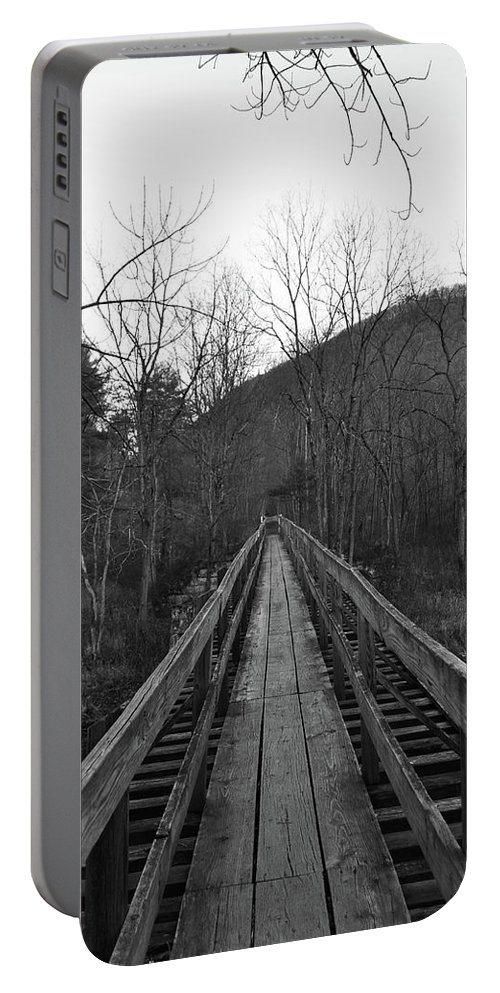 Portable Battery Charger featuring the photograph The Wooden Bridge by Trish Tritz