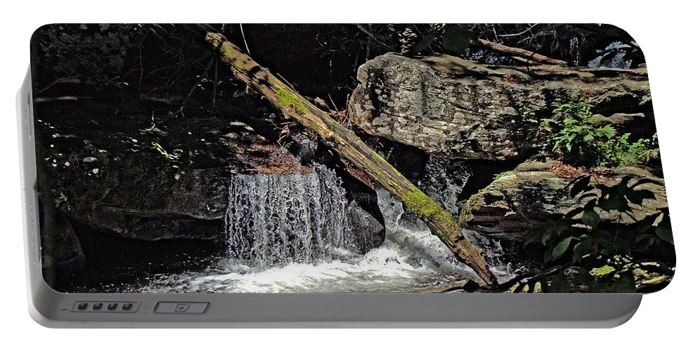 Water Portable Battery Charger featuring the photograph The Woods by David Campbell