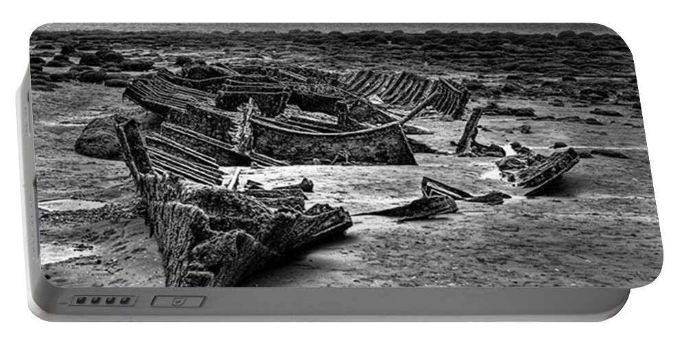 Trawler Portable Battery Charger featuring the photograph The Wreck Of The Steam Trawler by John Edwards