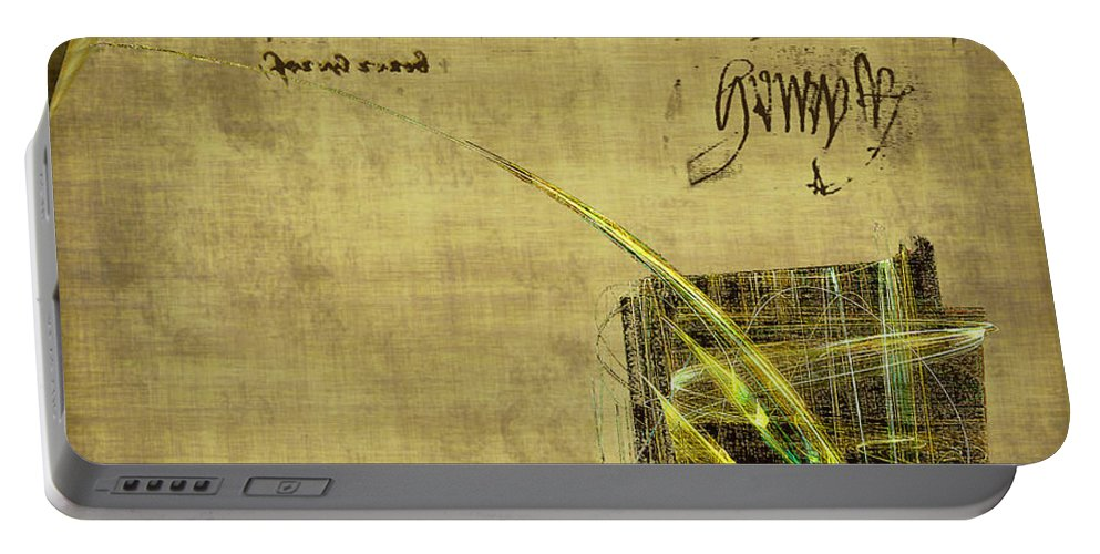 Ink Portable Battery Charger featuring the painting The Writing On The Wall by RC DeWinter