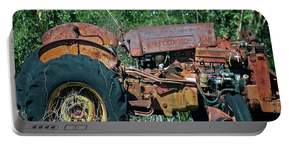 Tractor Portable Battery Charger featuring the digital art The Wrong Side Of The Tracks by DigiArt Diaries by Vicky B Fuller