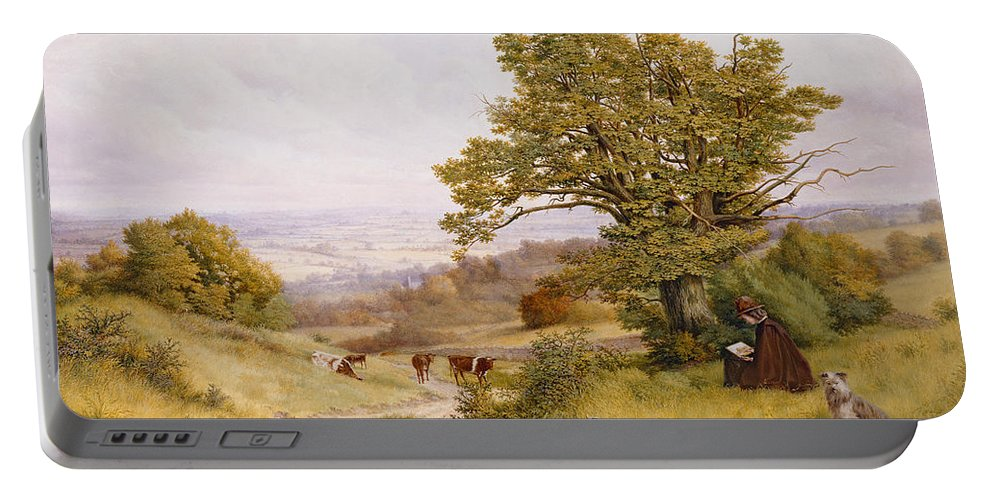 The Portable Battery Charger featuring the painting The Young Artist by Henry Key
