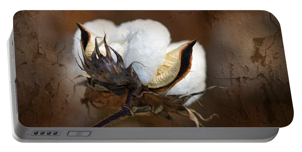 Cotton Portable Battery Charger featuring the photograph Them Cotton Bolls by Kathy Clark