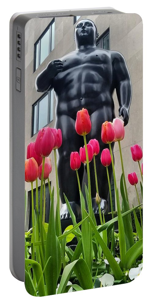 Tulip Portable Battery Charger featuring the photograph These Tulips Are For You by Bonny Puckett