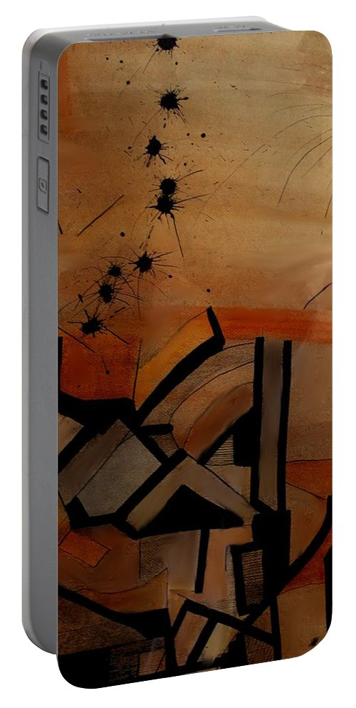 Abstract Portable Battery Charger featuring the drawing They Came From Afar by Ian MacDonald