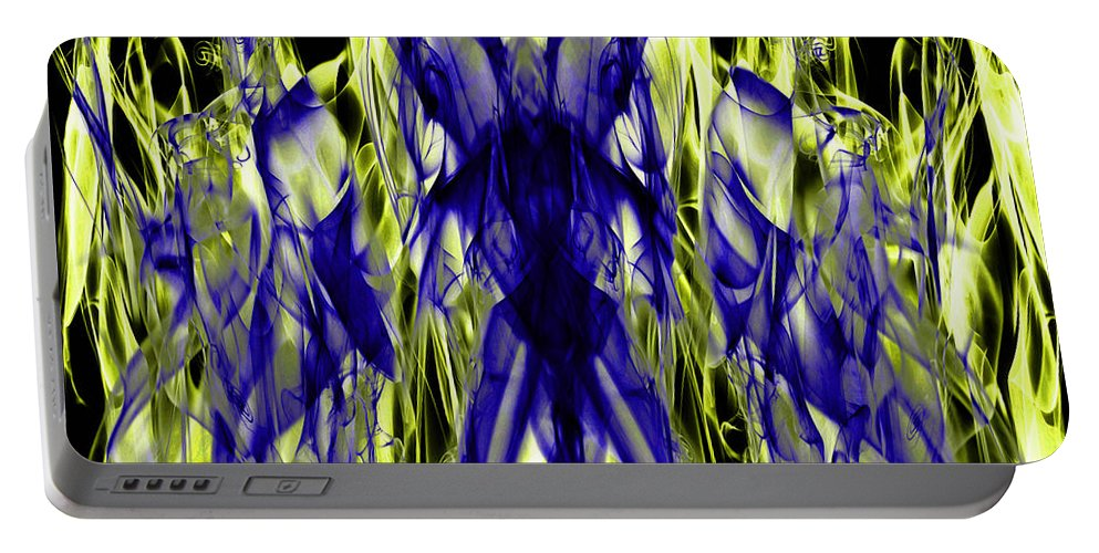 Clay Portable Battery Charger featuring the digital art They by Clayton Bruster