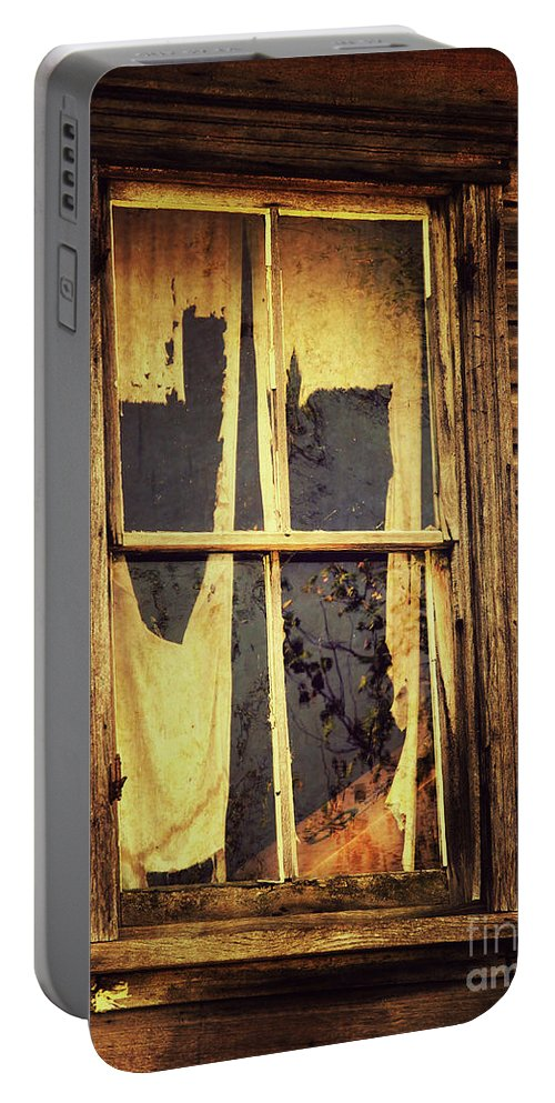 Halloween Portable Battery Charger featuring the photograph They're Waiting For You by David Nicholson