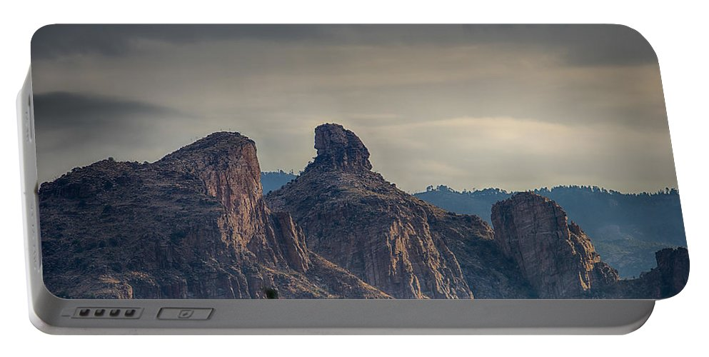 Tucson Portable Battery Charger featuring the photograph Thimble Peak Sunrise by Dan McManus