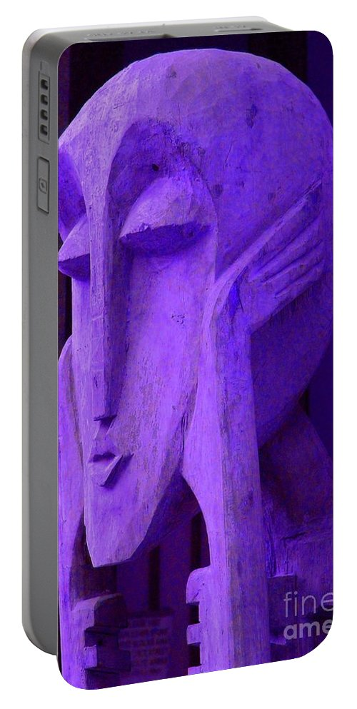 Head Portable Battery Charger featuring the photograph Think About It by Debbi Granruth