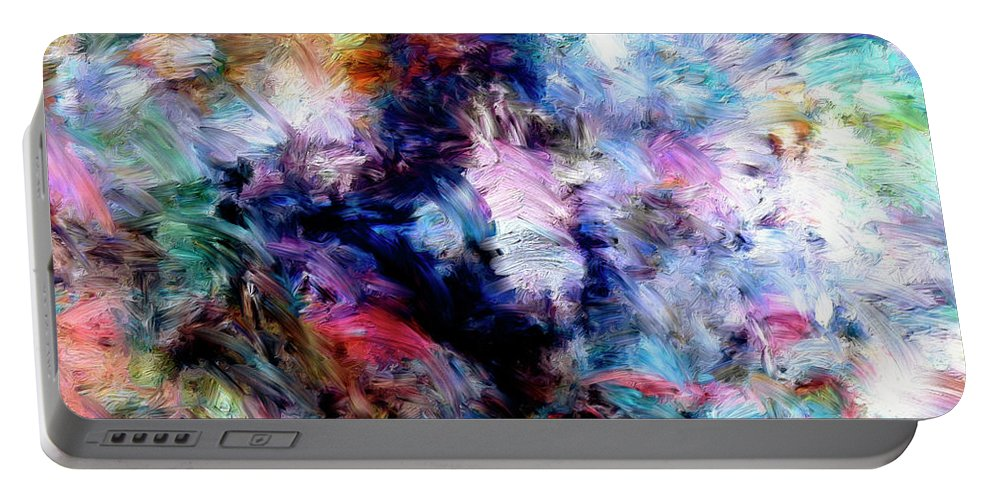 Abstract Portable Battery Charger featuring the painting Third Bardo by Dominic Piperata