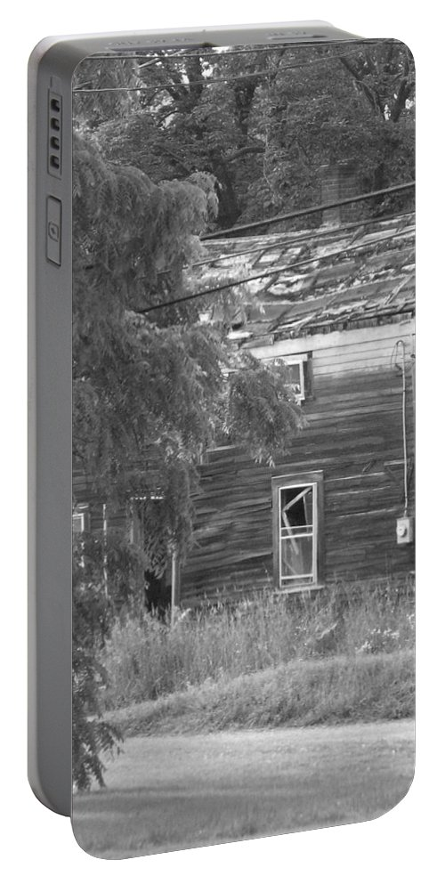 House Portable Battery Charger featuring the photograph This Old House by Rhonda Barrett