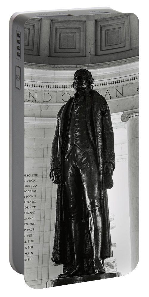 History Portable Battery Charger featuring the photograph Thomas Jefferson Memorial by Brandon Bourdages