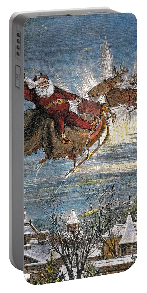 19th Century Portable Battery Charger featuring the photograph Thomas Nast: Santa Claus by Granger