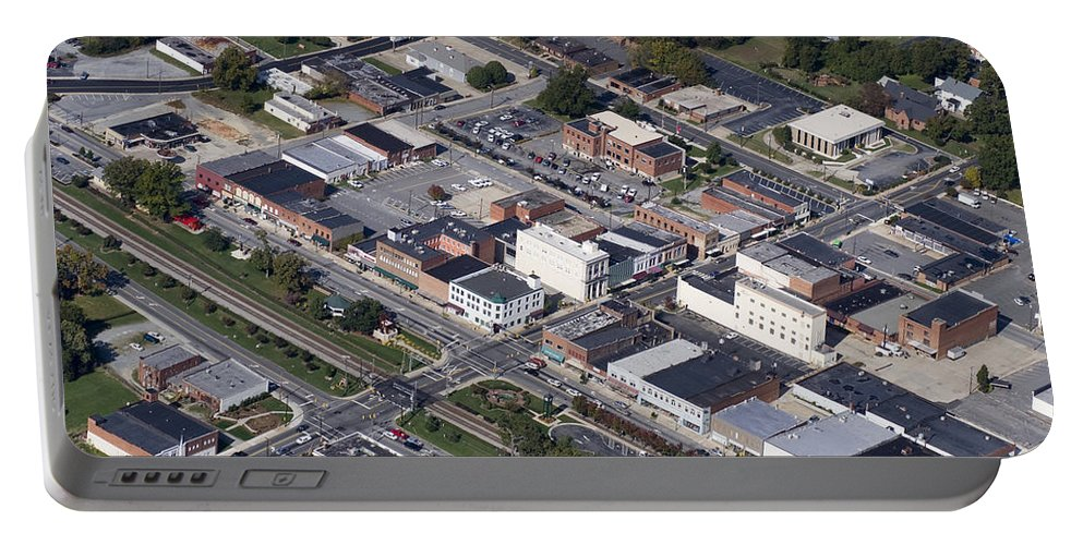 Thomasville Portable Battery Charger featuring the photograph Thomasville Nc Aerial by Robert Ponzoni